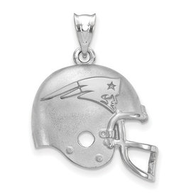 New England Patriots Helmet Pendant Sterling Silver (17mm)