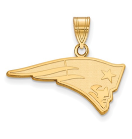 New England Patriots Pendant 10K Yellow Gold (26mm)