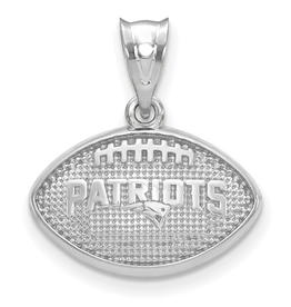 New England Patriots Football Pendant Sterling Silver (18mm)