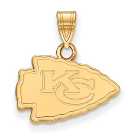 Kansas City Chiefs Pendant 10K Yellow Gold (17mm)