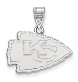Kansas City Chiefs Pendant Sterling Silver (22mm)
