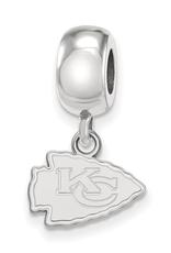 Kansas City Chiefs Sterling Silver Bead Charm Dangle (13mm)