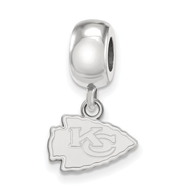 Kansas City Chiefs Sterling Silver Bead Charm Dangle (13mm)