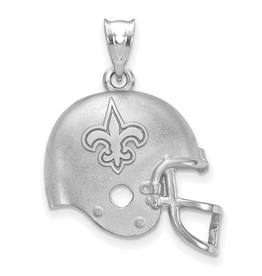 New Orleans Saints Helmet Pendant Sterling Silver (17mm)