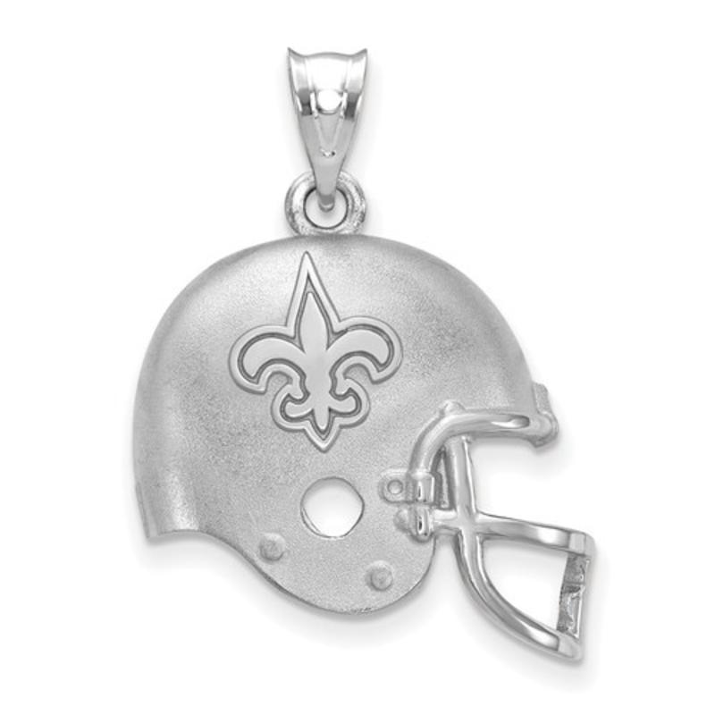 New Orleans Saints Helmet Pendant Sterling Silver (17mm)