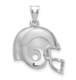 Los Angeles Rams Helmet Pendant Sterling Silver (17mm)