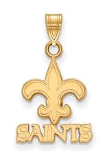 New Orleans Saints Pendant 10K Yellow Gold (14mm)
