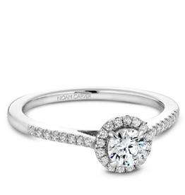 Halo Diamond Ring (0.50ct) 14K White Gold