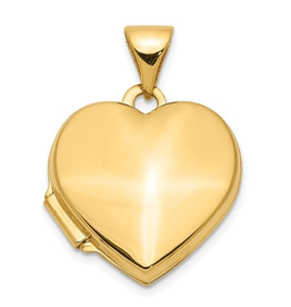 Yellow Gold Plain Heart Locket
