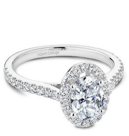 Oval Diamond Mount 14K White Gold
