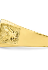 Yellow Gold Men's CZ Eagle Fancy Ring