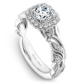 Noam Carver Noam Carver White Gold Diamond Halo Ring