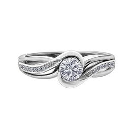 Canadian Diamond (0.50ct) 14K White Gold Ring