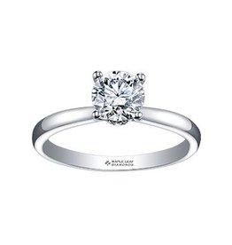 Maple Leaf Diamonds 18K Palladium White Gold (0.55ct) Canadian Diamond Circle of Love Solitaire Engagement Ring