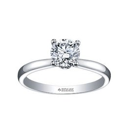 Maple Leaf Diamonds 18K Palladium White Gold (0.25ct) Canadian Diamond Circle of Love Solitaire Engagement Ring