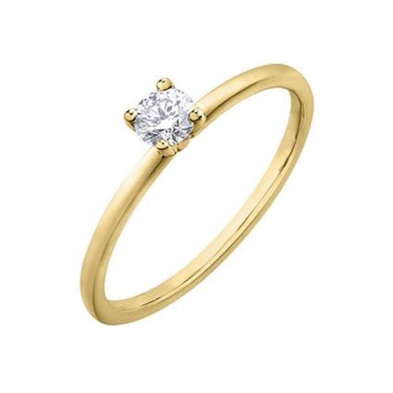 10K Yellow Gold (0.20ct) Canadian Diamond Solitare Ring