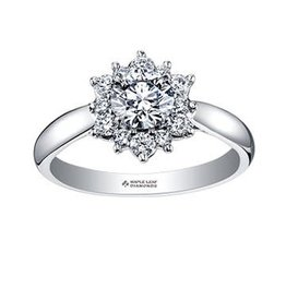 Maple Leaf Diamonds Canadian Diamond Tides of Love (1.10ct) 18K Palladium White Gold