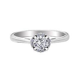I am Canadian Halo (0.58ct) Canadian Diamond Ring White Gold