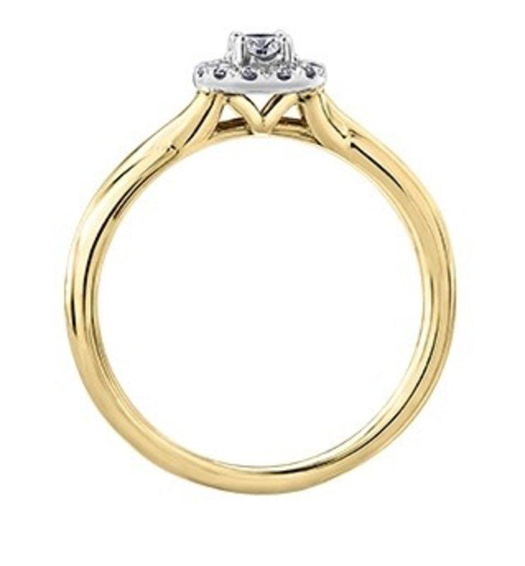 I am Canadian 10K Yellow Gold (0.30ct) Canadian Diamond Halo Engagement Ring