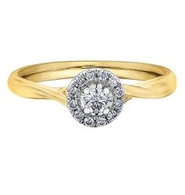 I am Canadian 10K Yellow Gold Halo Canadian Diamond (0.20ct)