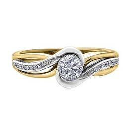 I am Canadian 14K Yellow and White Gold (0.50ct) Canadian Diamond Engagement Ring