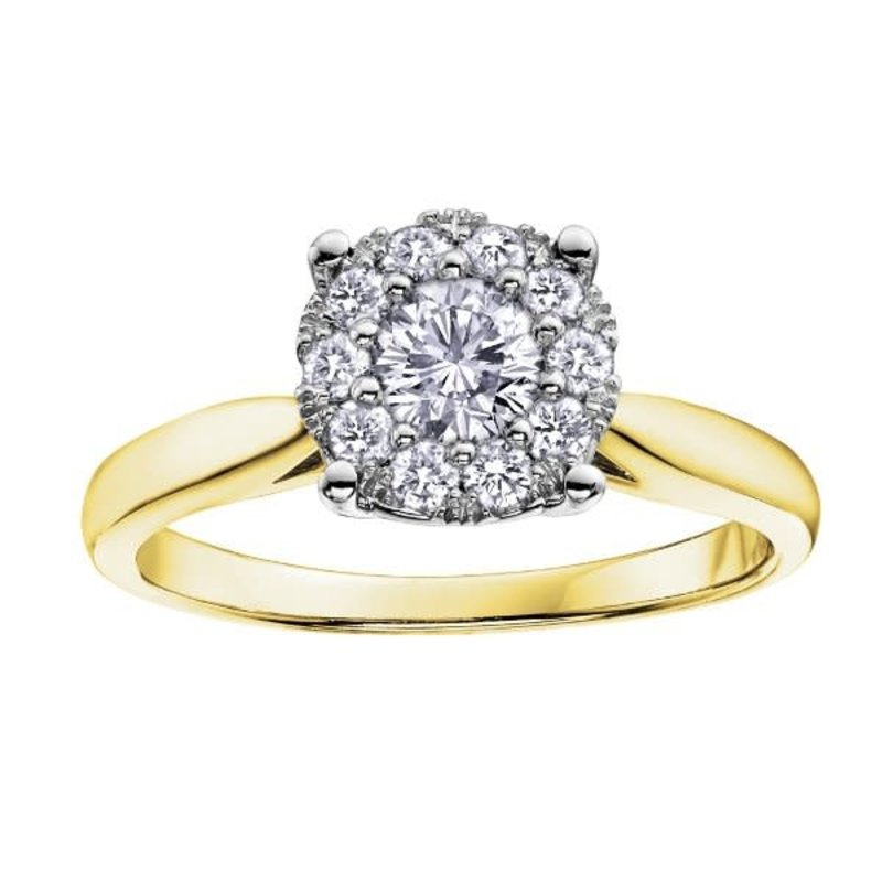 10K Yellow Gold (0.13ct) Cluster Diamond Ring