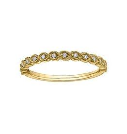 10K Yellow Gold (0.07ct) Diamond Stackable Wedding Band