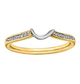 Matching Band 14K Yellow and White Gold to R30249YW50