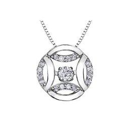 White Gold Fancy (0.15ct) Diamond Pendant