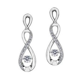 Dancing Diamond Dangle Earrings (0.27ct) White Gold