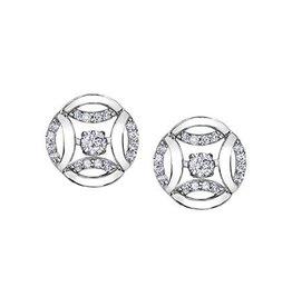 Diamond Earrings (0.18ct) White Gold