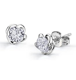 Maple Leaf Diamonds Winds Embrace (0.15ct) Canadian Diamond Earrings 18K White Gold