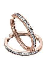 10K Rose Gold (1.00ct) Diamond Hoop Earrings