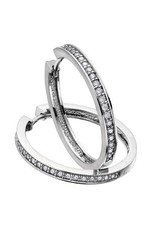 Diamond Hoops (1.00ct) White Gold