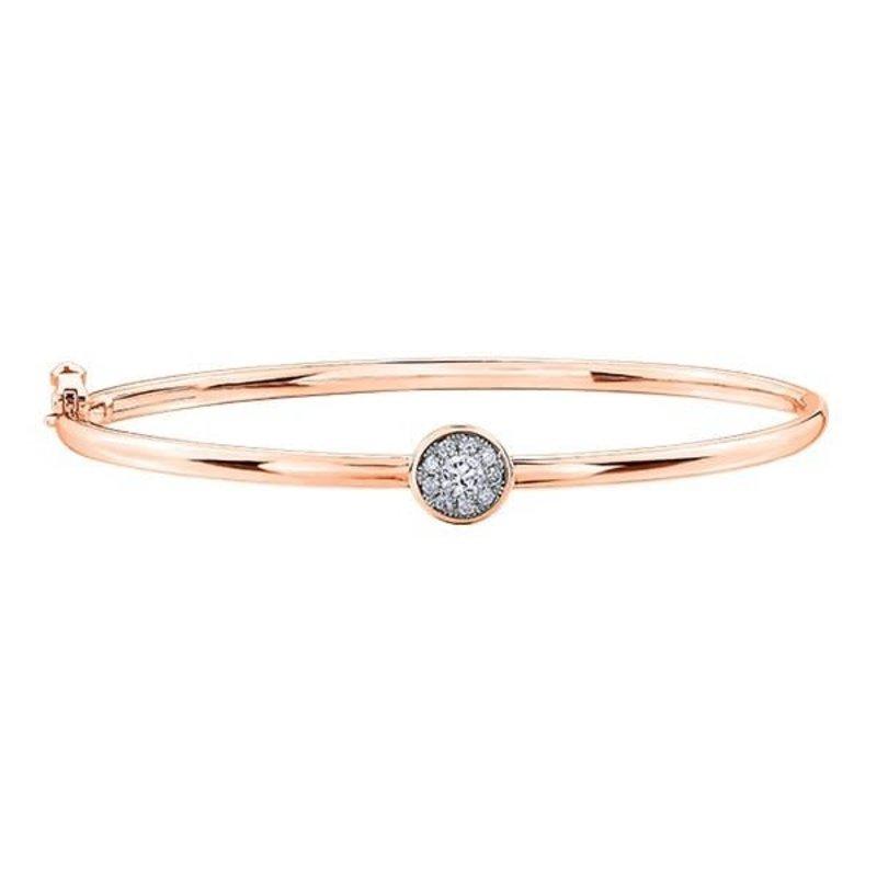 10K Rose Gold (0.25ct) Cluster Diamond Bracelet