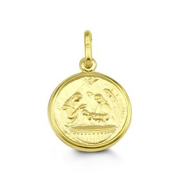 Yellow Gold Baptism Medallion