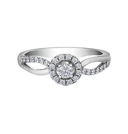 I am Canadian 10K White Gold (0.30ct) Halo Canadian Diamond Ring