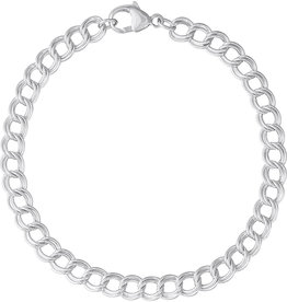 Nuco Small Double Link Dapped Curb Classic Bracelet