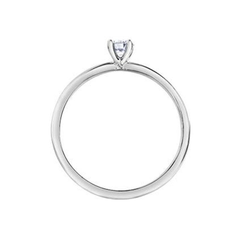 I am Canadian 10K White Gold (0.20ct) Canadian Diamond Solitare Ring