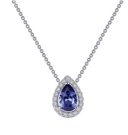 Lafonn Lafonn Simulated Tanzanite and Diamond Sterling SIlver Necklace