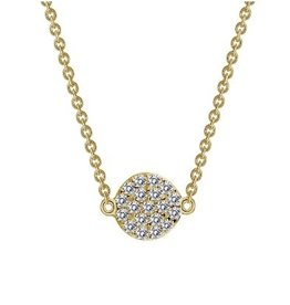 Lafonn Lafonn Dot Necklace With Simulated Diamonds In Gold Plating