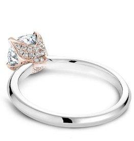Noam Carver Noam Carver Rose and White Gold Diamond Mount
