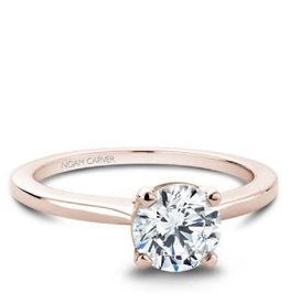 Noam Carver Noam Carver Rose Gold Solitare Mount Ring