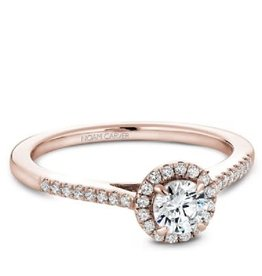 Halo Diamond Ring (0.33ct) 14K Rose Gold