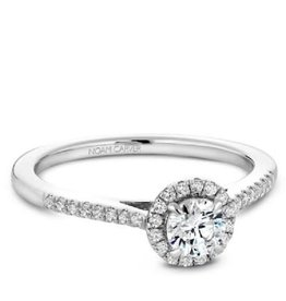 Halo Diamond Ring (0.33ct) 14K White Gold