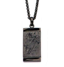 Steel Black Solid Carbon Graphite Dog Tag
