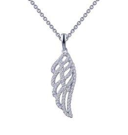 Lafonn Lafonn Sterling Silver Simulated Diamonds Angel Wing Necklace