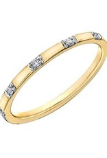10K Yellow Gold (0.06ct) Diamond Stackable Wedding Band