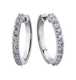 10K White Gold Diamond Hoop Earrings (1.50ct)