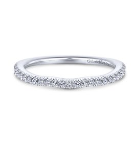Gabriel & Co 14K White Gold Round Curved